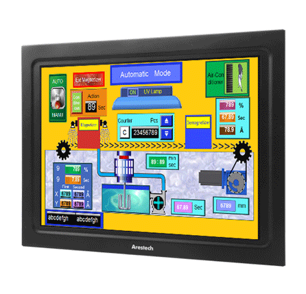 Arestech Panel Mount Touchscreen Display Nemacom